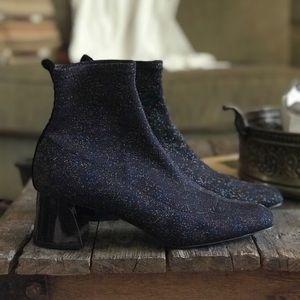 ZARA - Glitter Block Heel Boots